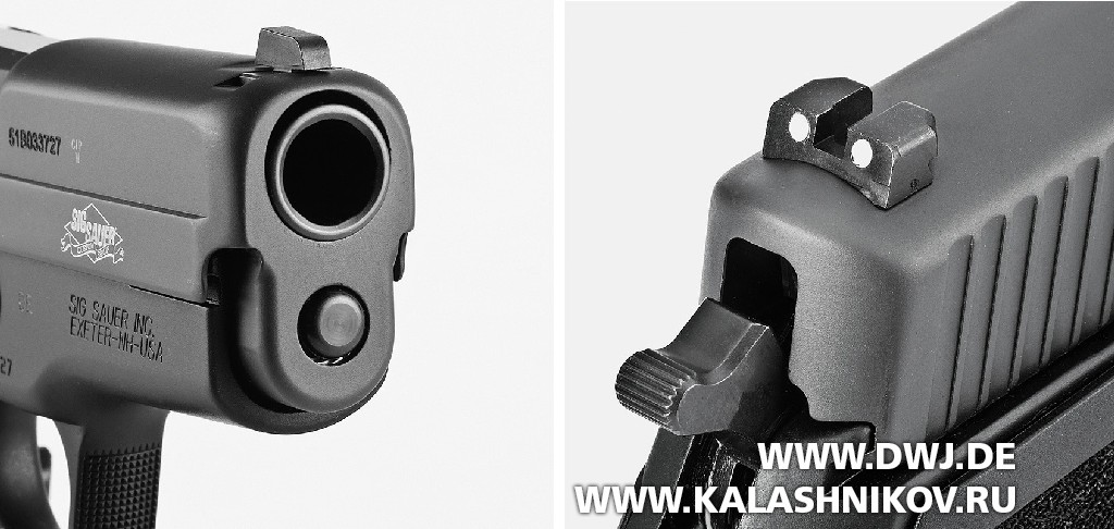 ПистолетSIG Sauer P227 SAS. прицельные приспособления