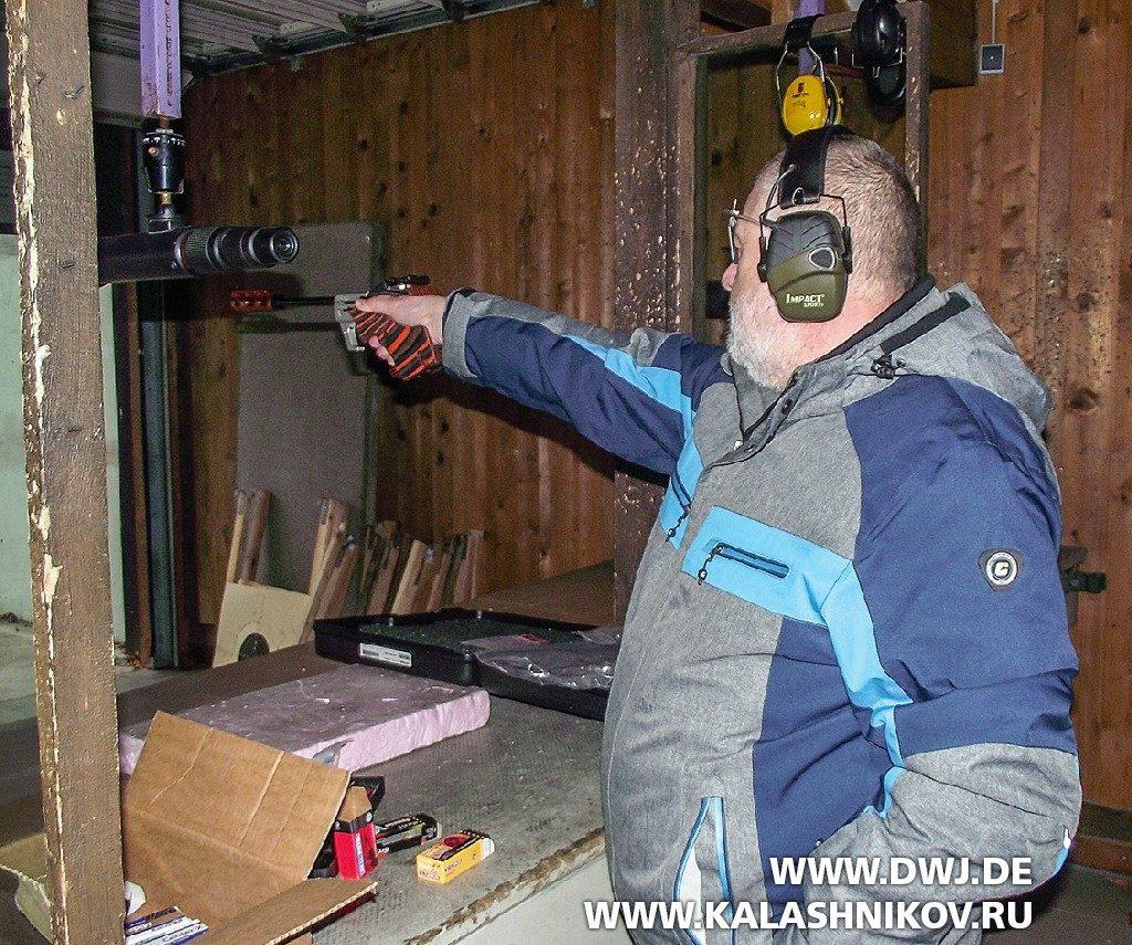 Спортивный пистолет FP500 Walther в тире