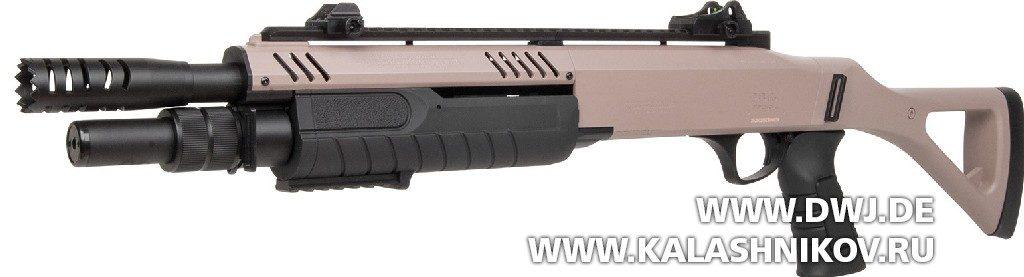Пневматическое помповое ружье GSG Fabarm STF-12 TAN
