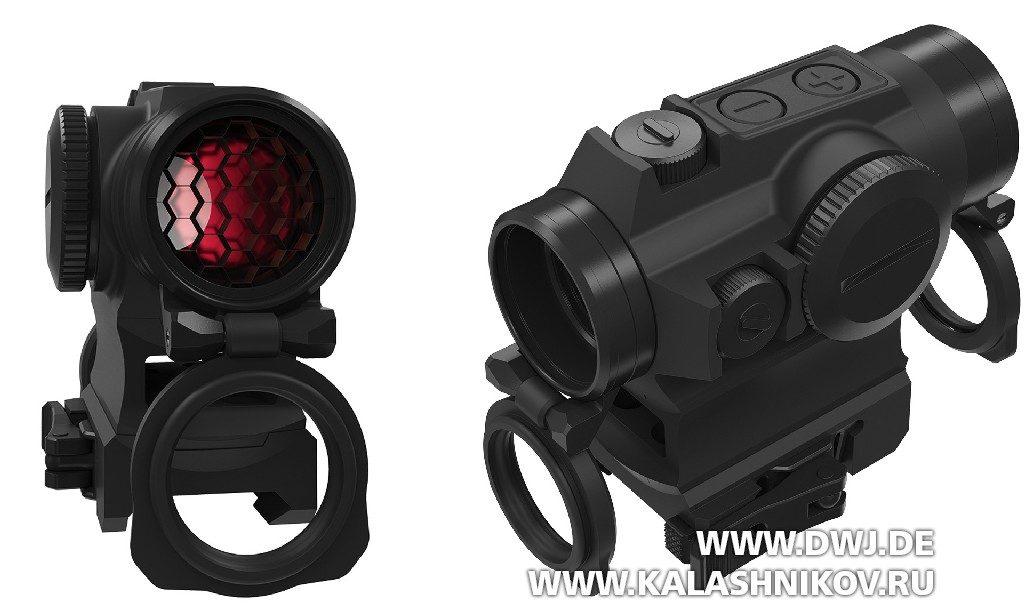 Коллиматорный прицел Holosun HS 515 G-M. Вид сбоку и светофильтр
