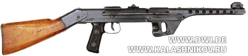 малосерийный ППС-43 с деревянным прикладом