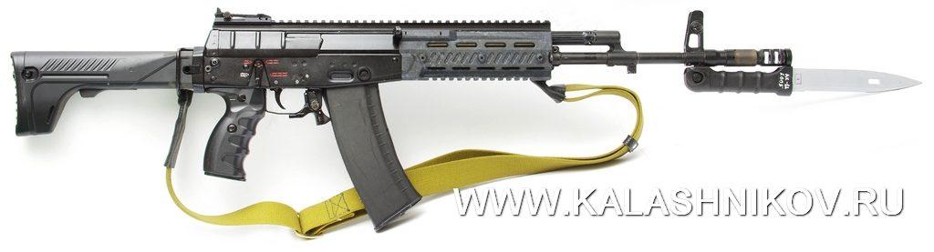 АК-12, автомат, штык-нож, складывающийся приклад