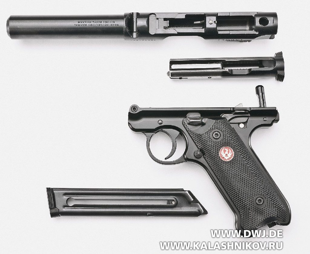 Спортивный пистолет Ruger MarkIV. извлечение затвора
