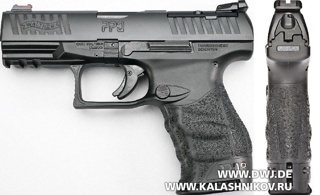 Пистолет Walther PPQ M2 Q4 AM. Вид слева