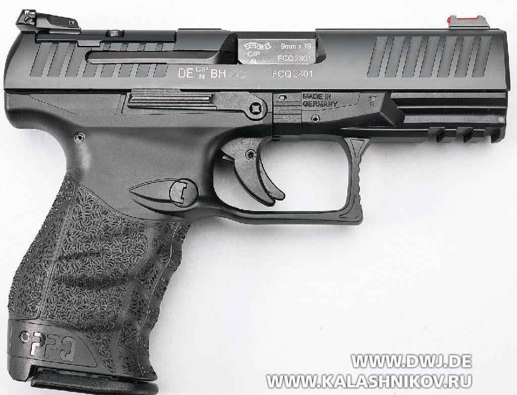 Пистолет Walther PPQ M2 Q4 AM. Вид справа