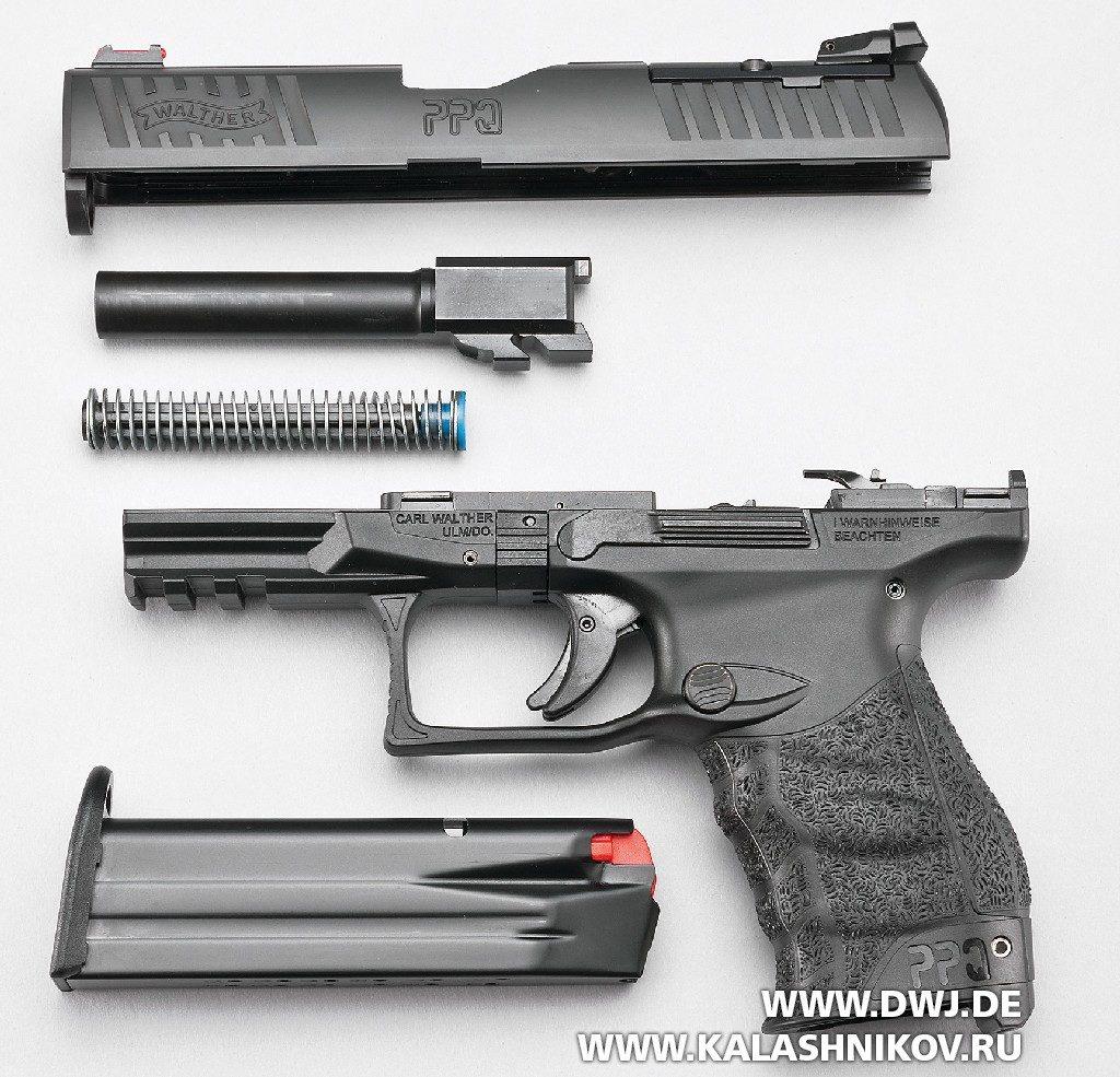 Пистолет Walther PPQ M2Q4 неполная разборка