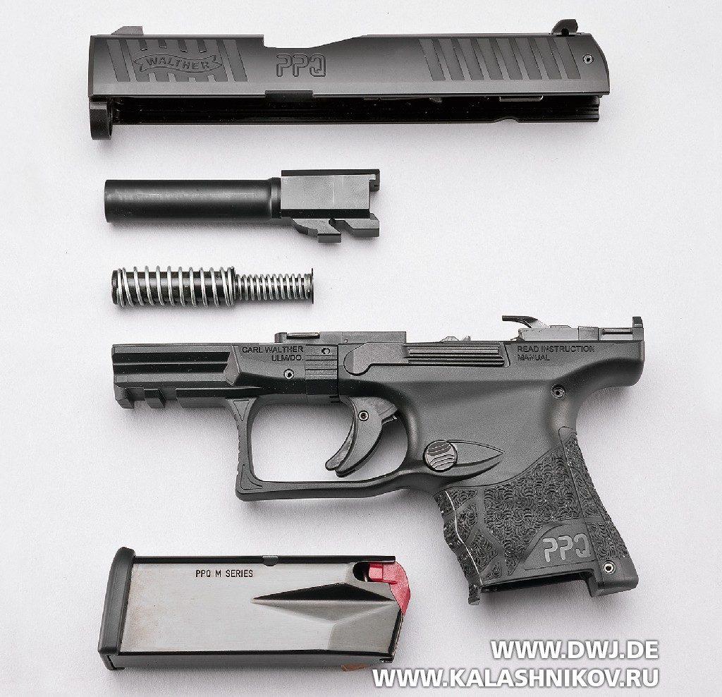 Пистолет Walther PPQ M2SC неполная разборка