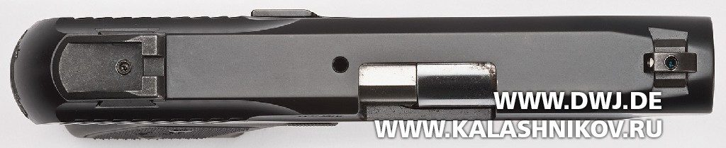 Пистолет Remington R51. Вид сверху