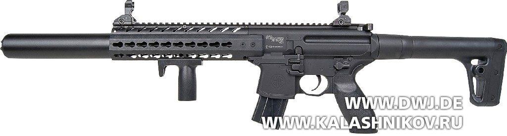 Газобаллонная пневматическая винтовка GSG  SIG-Sauer МСХ в черном исполнении