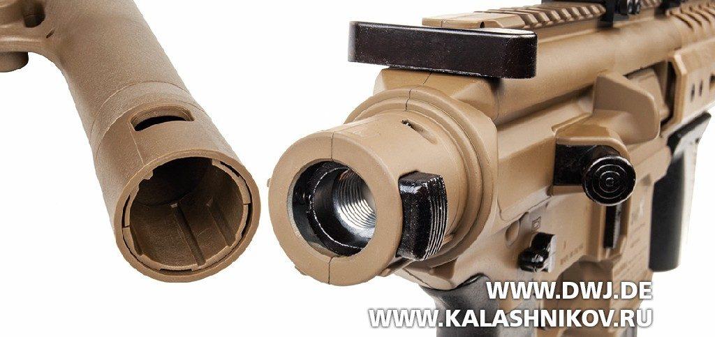 Газобаллонная пневматическая винтовка GSG SIG-Sauer крепление баллона