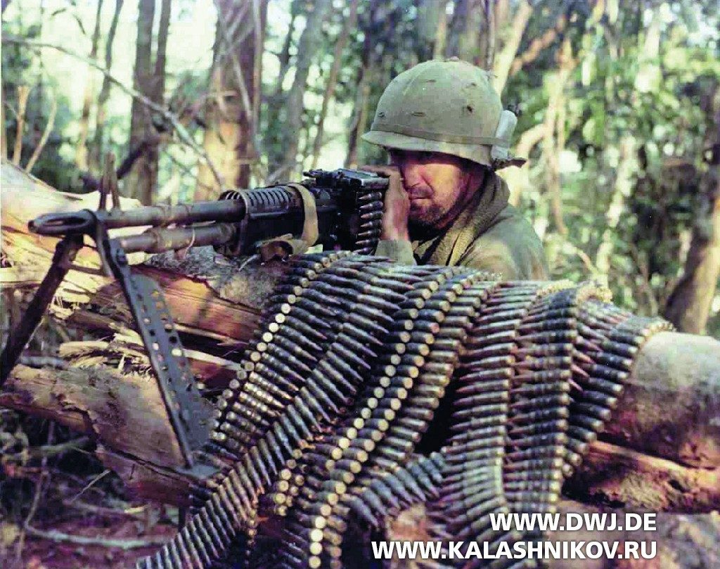 Пулемёт U.S. M60 General Purpose Machine Gun во Вьетнаме