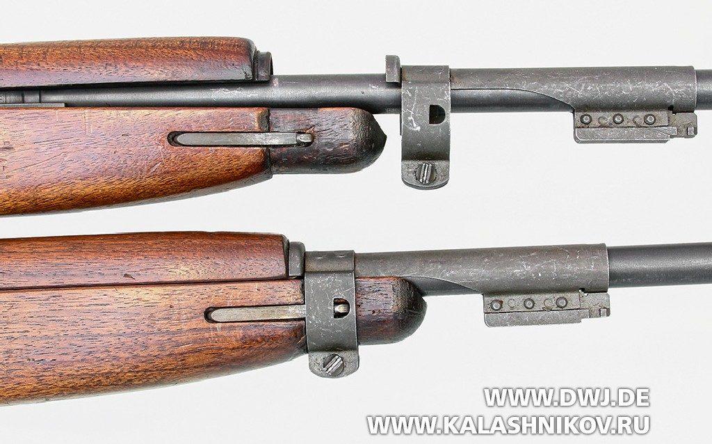 Самозарядный карабин .30 М1 Carbine. Крепление ложи и ствольной коробки