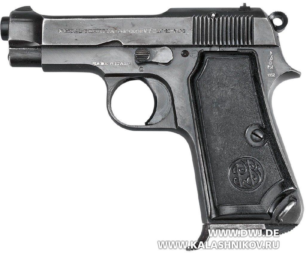 Пистолет Beretta М1935. Вид слева