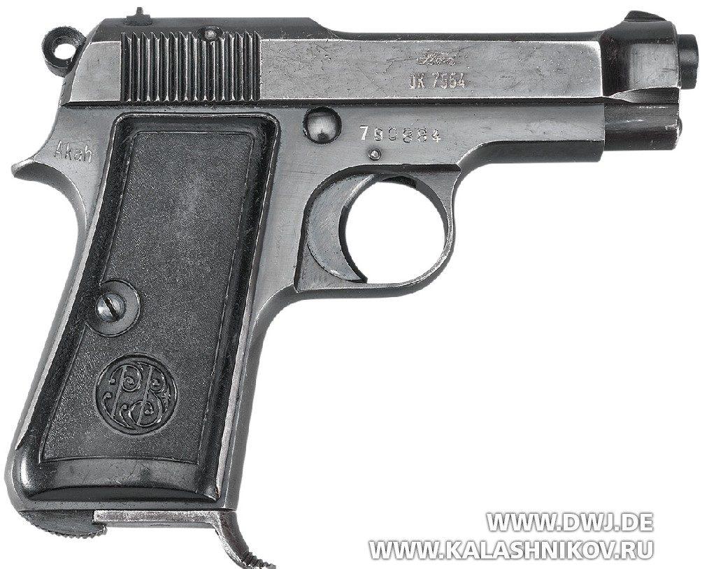 Пистолет Beretta М1935. Вид справа