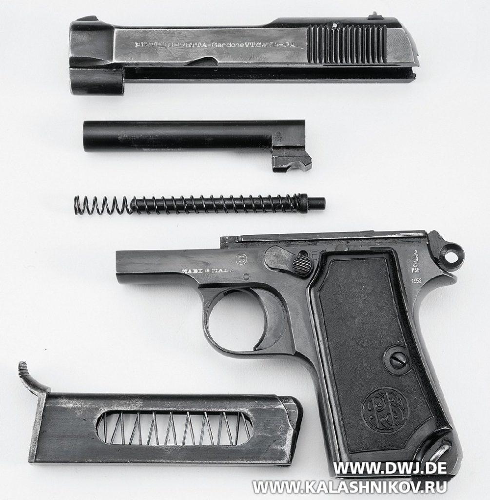 Пистолет Beretta М1935. Неполная разборка