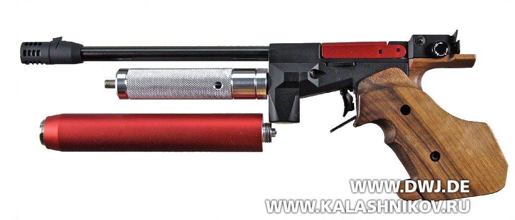 Матчевый пистолет Feinwerkbau P30 с адаптером Medi-Tec