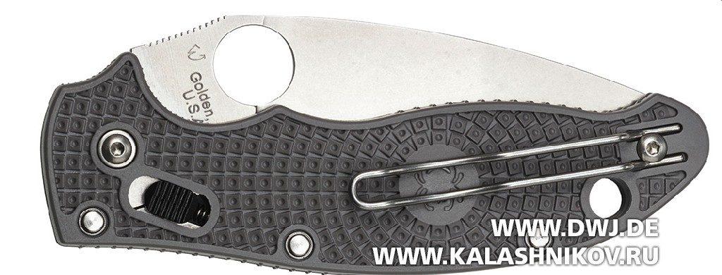 Нож Spyderco Manix 2 Lightweight Maxamet. С убранным клинком
