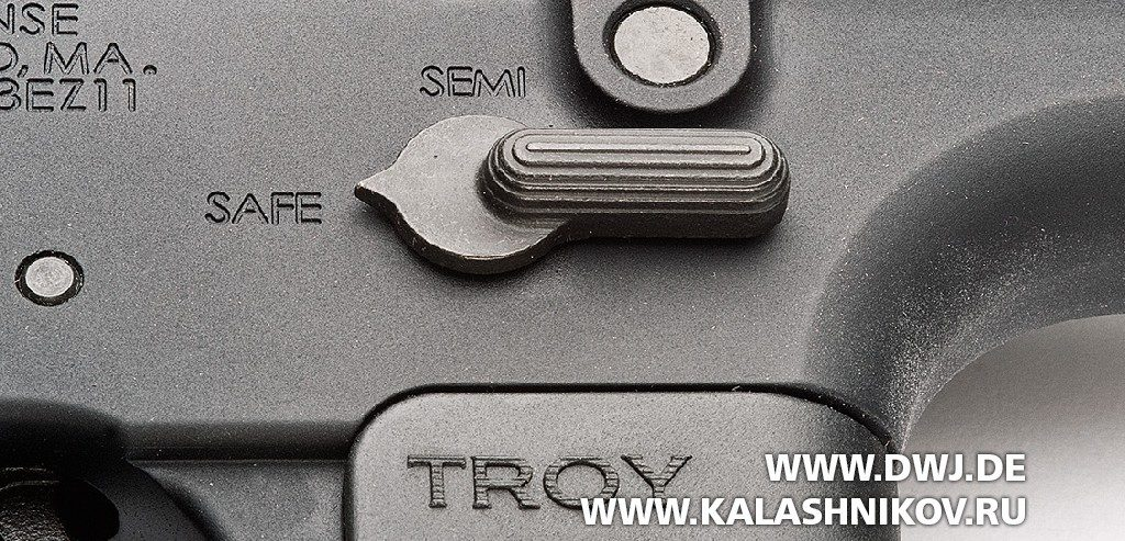 «Помповая» AR-10. Винтовка Troy PAR Sporting. Предохранитель