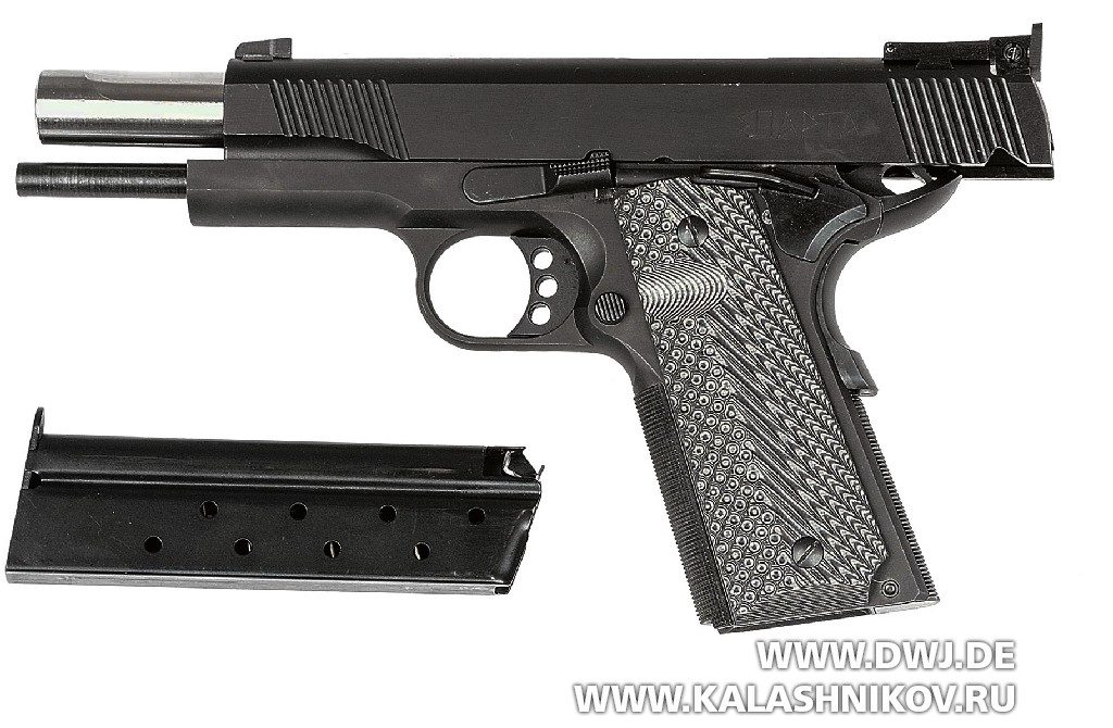 Пистолет STI Europe Black Major на затворной задержке