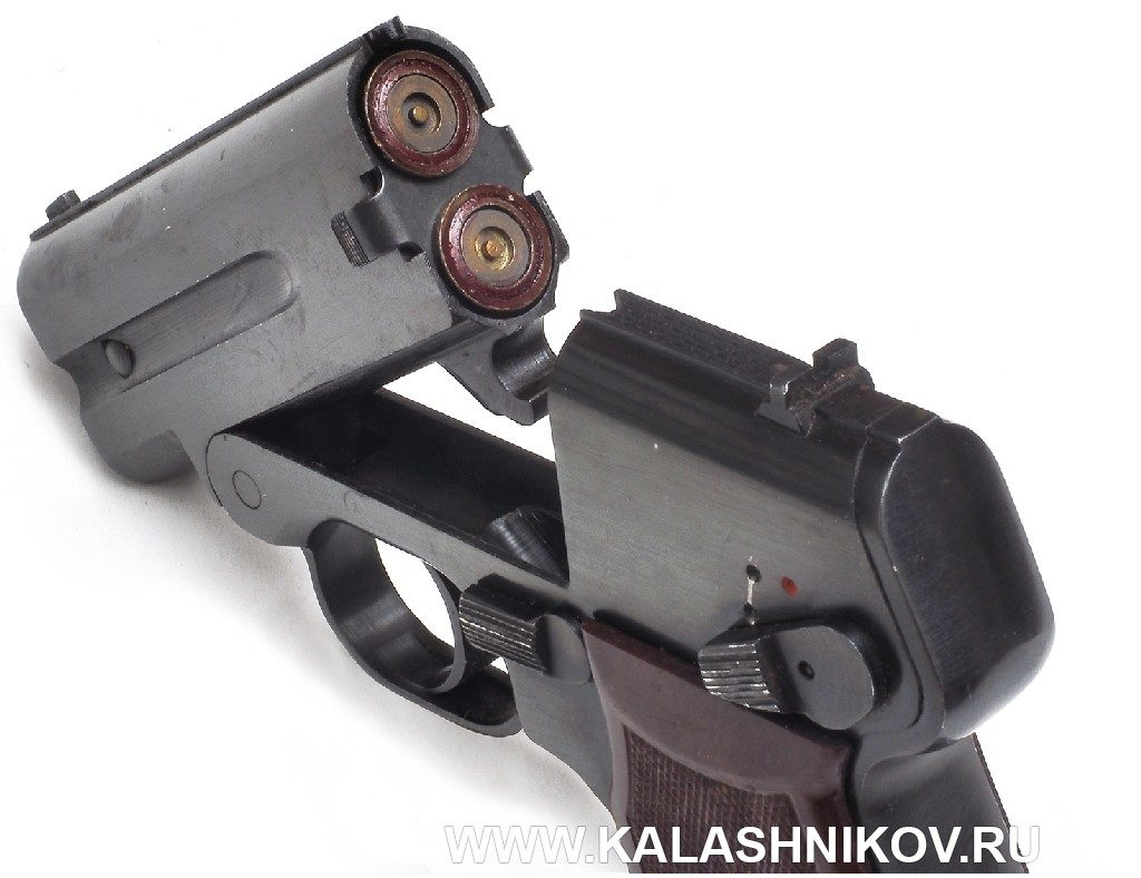 Бесшумный пистолет «Гроза» С-4М. Вид на казенную часть