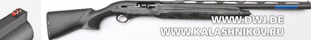 Beretta 1301 Competition. Вид справа и мушка