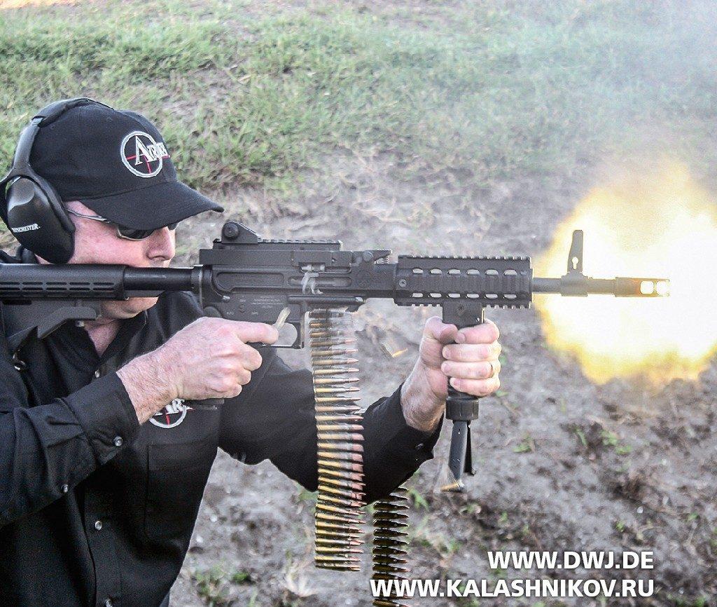 Ручной пулемёт SHRIKE 5,56TM. Стрельба
