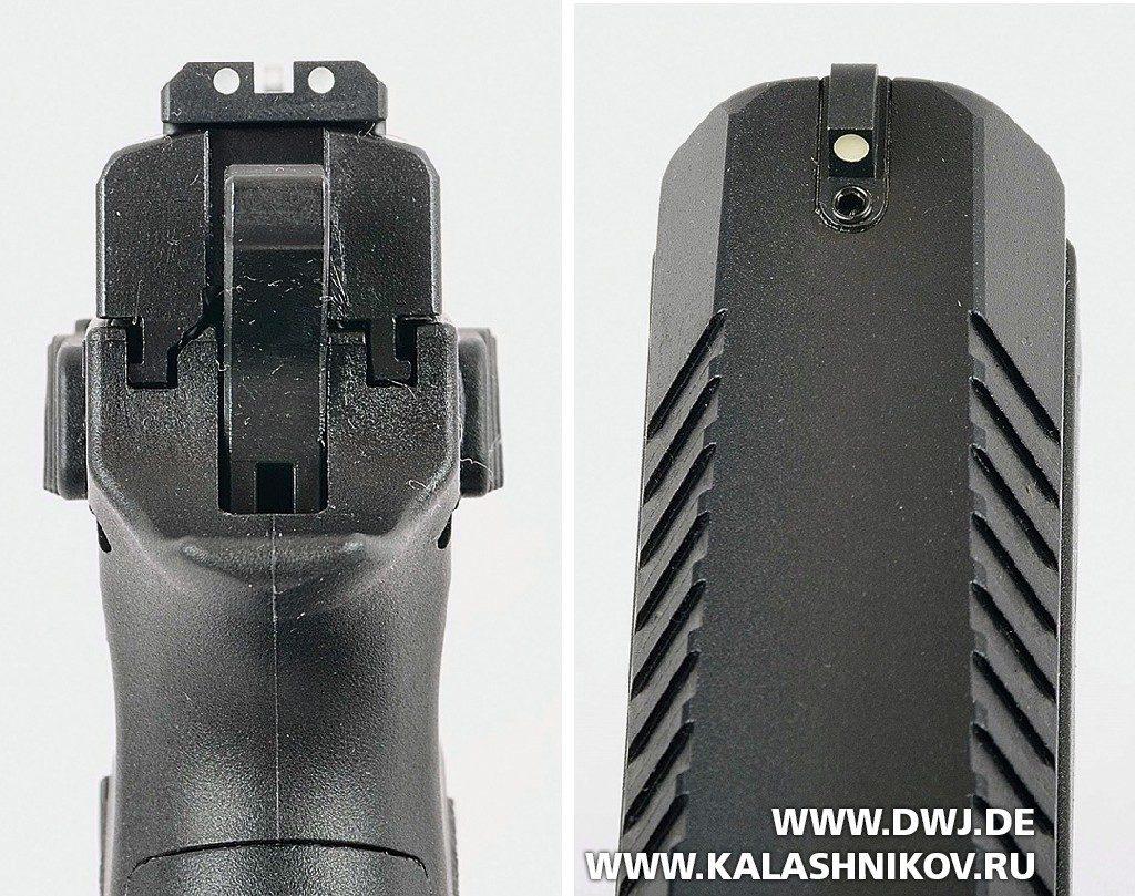 Малогабаритный пистолет CZ Р-07. Прицельные приспособления