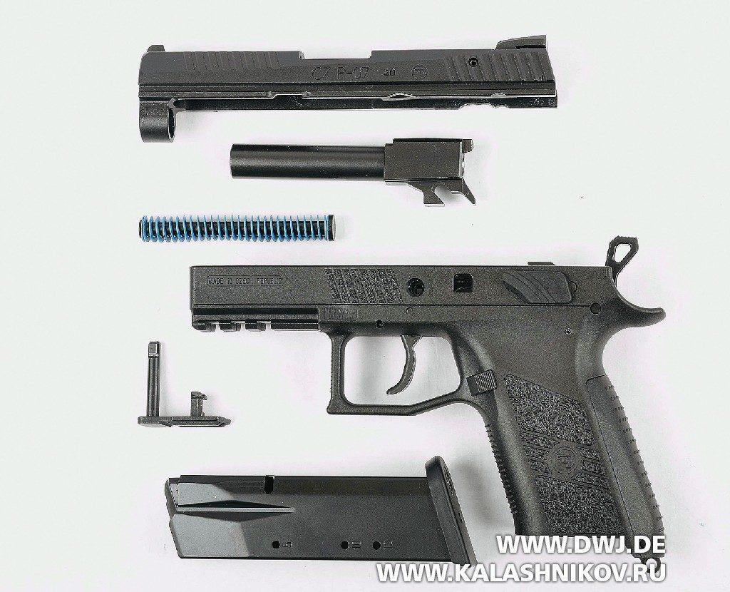 Малогабаритный пистолет CZ Р-07. Неполная разборка