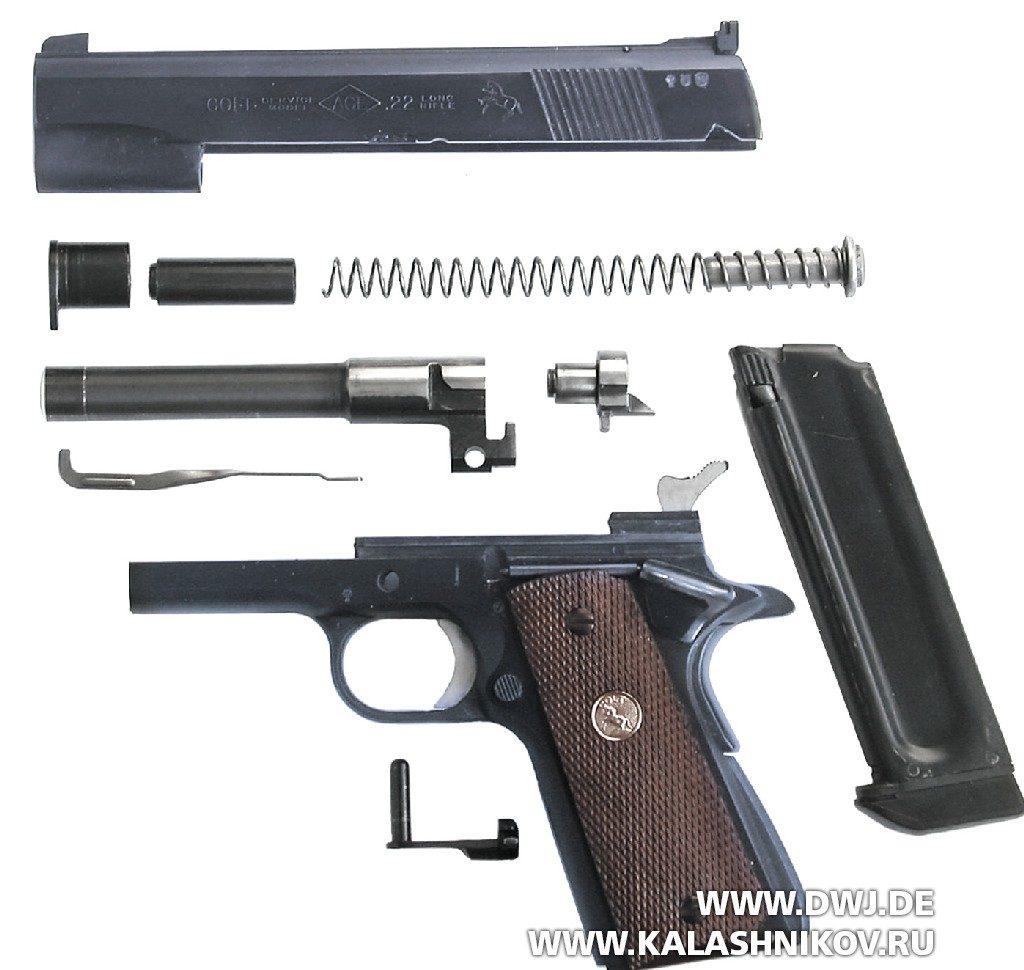 Составные части пистолета Colt Service-Modell ACE .22 l.r.