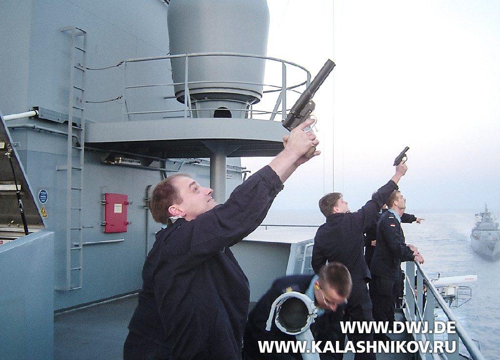 Применение сигнальных пистолетов Sig P4 и Sig P2A1 в ВМС ФРГ в составе временных сил ООН в Ливане