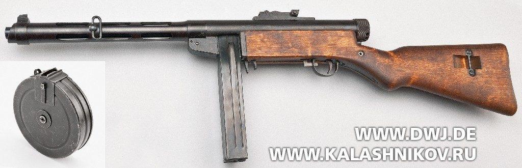 Пистолет-пулемёт Suomi KP/-31. Вид слева