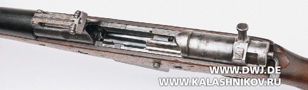 Винтовка Gewehr 41 (Walther). С открытым затвором