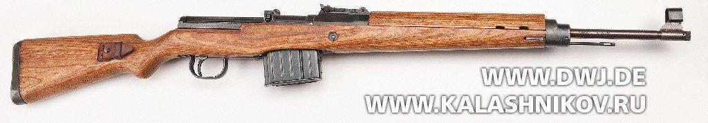Винтовка Walther Gewehr 43. Вид справа