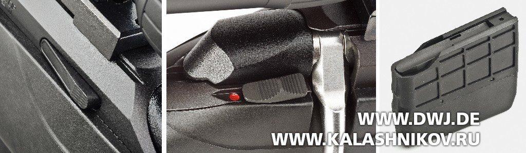 Высокоточная винтовка Tikka T3x Varmint. Останов затвора, предохранитель и магазин