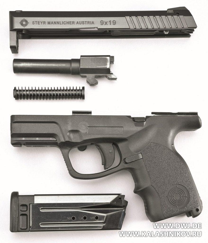 Steyr S9-A1, детали, затвор, ствол, возвратный механизм