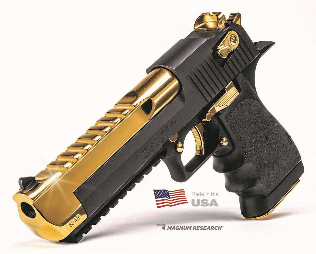Desert Eagle, 50ae, gold, black