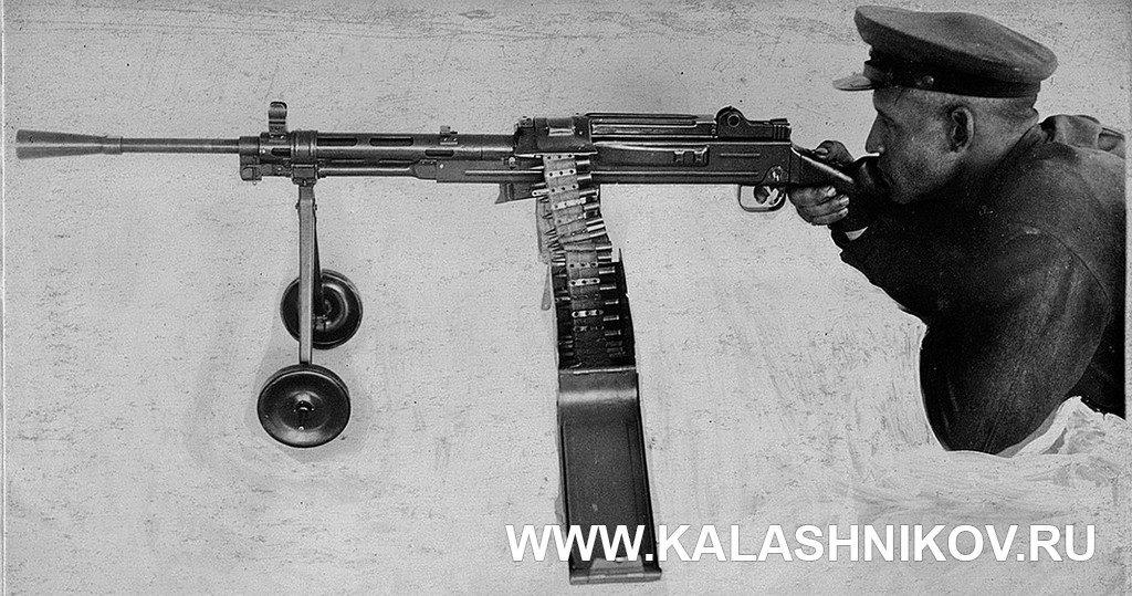 Пулемёт, ГВГВ, Горюнов, испытания, винтовочный патрон, текстильная лента