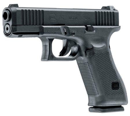 Umarex Gas Airsoft Glock 45, дульный срез, нарезы, затвор, мушка