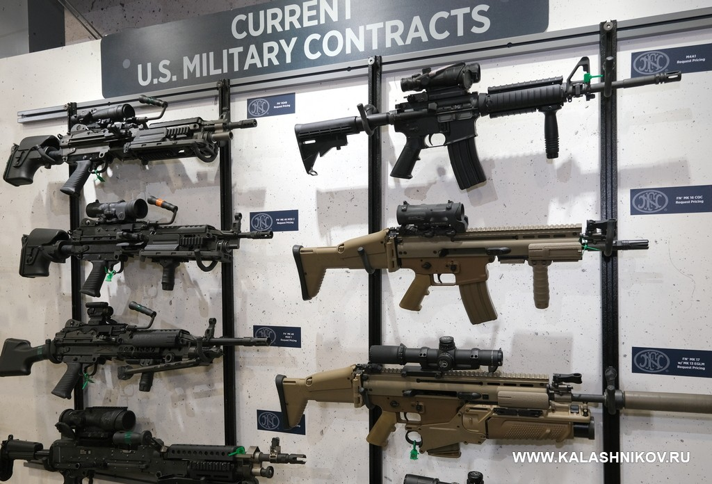 FN America, M4 rifle, FN SCAR, M249 SAW, Minimi, M240 machine gun