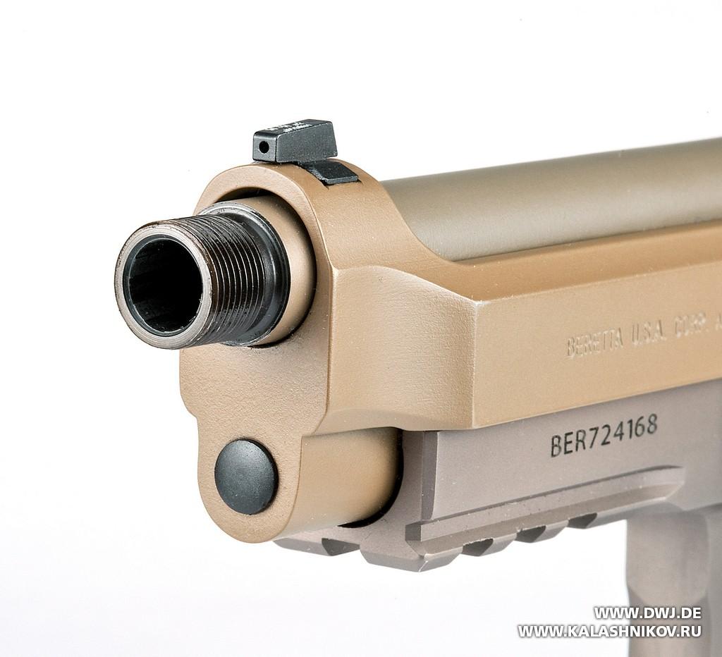 Beretta M9А3, резьба, глушитель