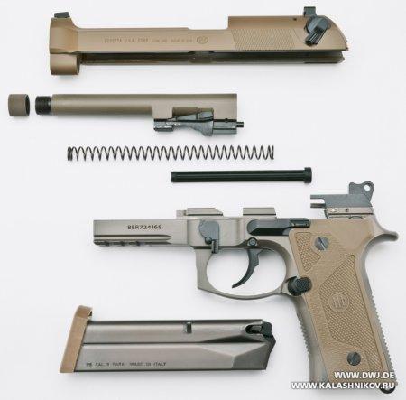 Beretta M9А3, разборка