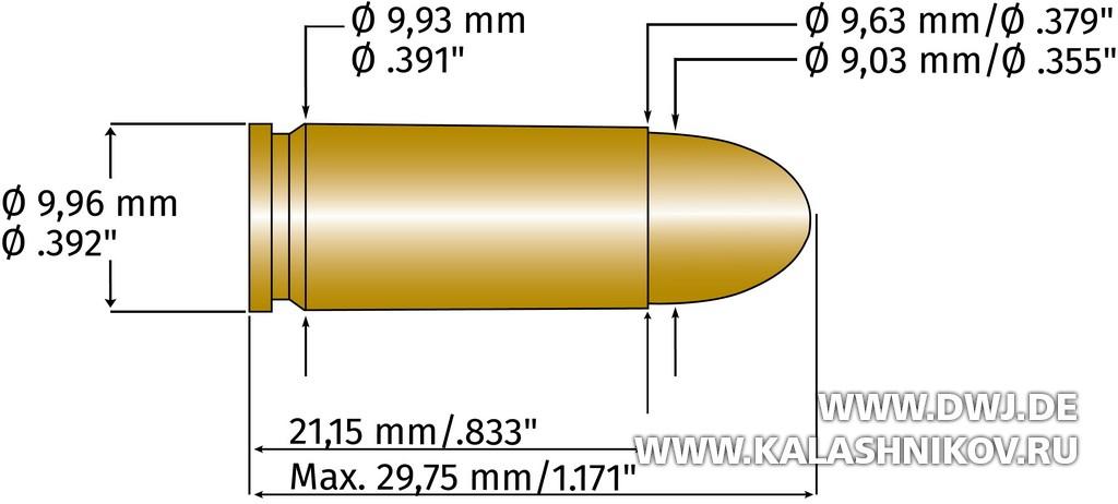 9х21, патрон, размеры