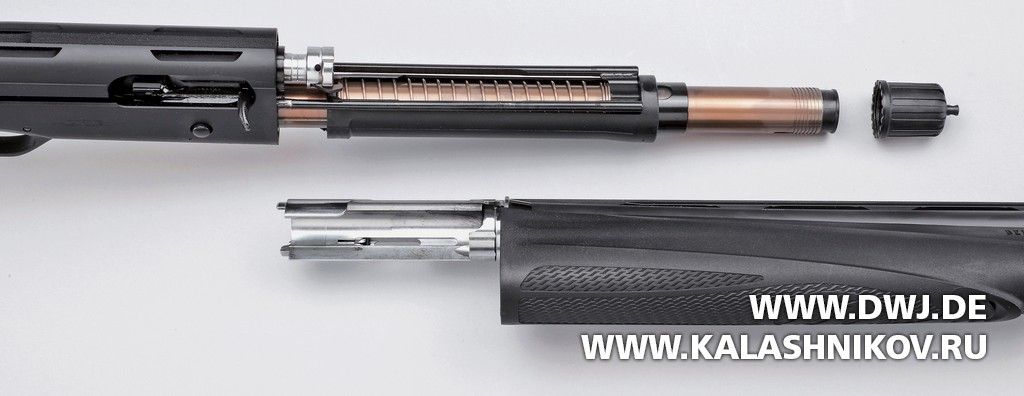 Beretta A400 Lite Synthetic, газовый двигатель