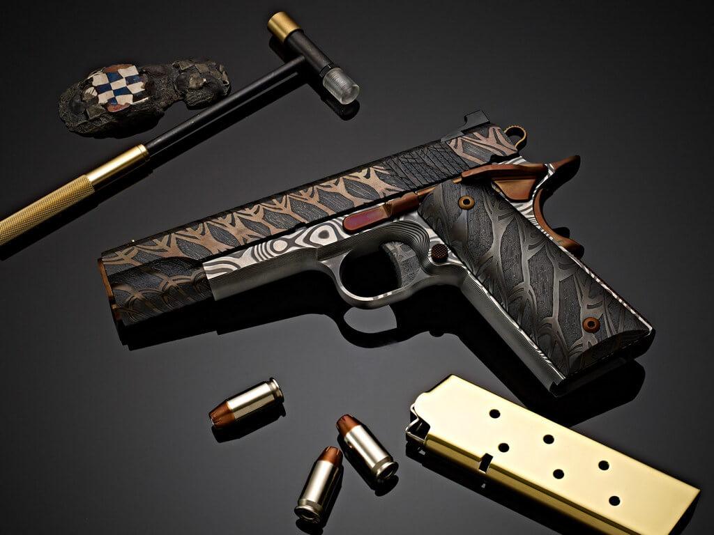 Cabot Guns, Tiger Stripe Damascus