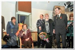Члены семьи Е. Ф. Драгунова на церемонии открытия выставки.